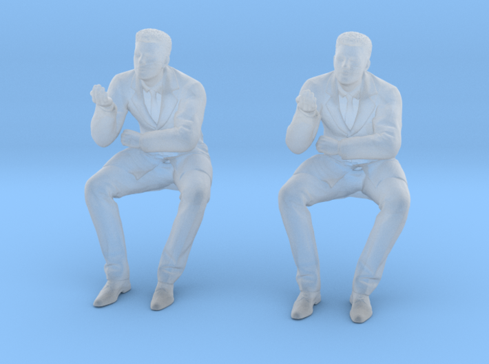 Doctor Sitting at Desk 3d printed