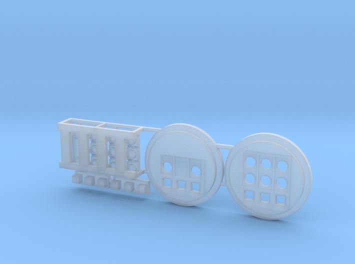Moebius EVA Pod: Circular Control Panels 3d printed