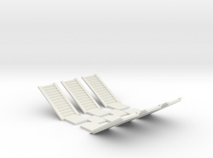 Concrete Stair Run 12 risers (N scale) 3d printed