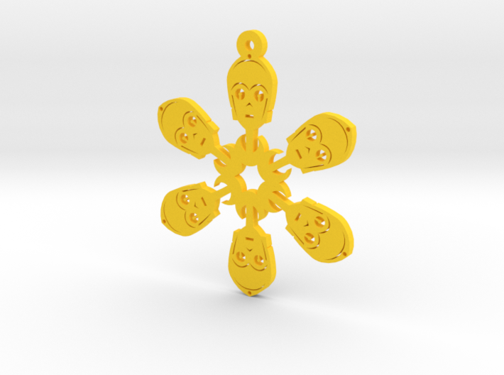 Nerdy Snowflakes - C-3PO - 3in 3d printed