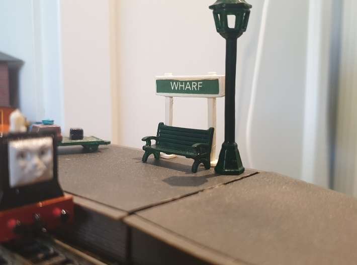 OO/HO Station Signs (Type 2, Short) x2 3d printed