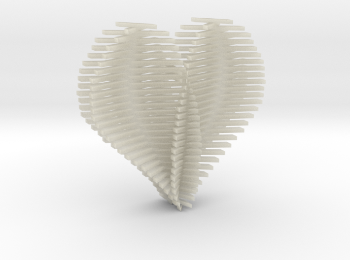 Heart Opening up 3d printed
