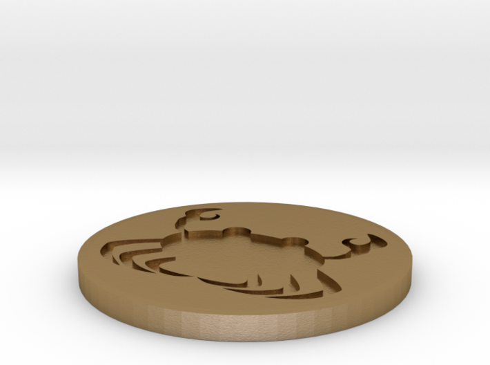 zodiac cancer coin d2 3d printed