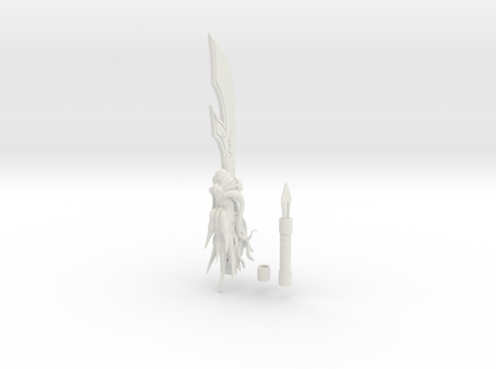1/3 Scale Kanu Unchous Dragon Staff 3d printed
