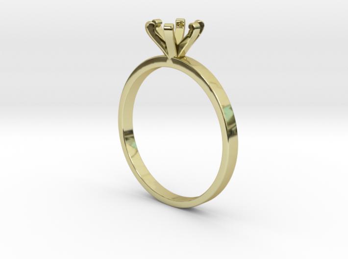 Plain Size 7 Ring - 6mm Gem - 6 prong v3 3d printed