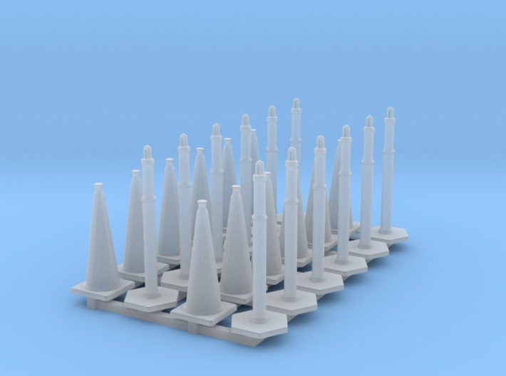 Set of 24 - Traffic Cones and Tube Cone 3d printed