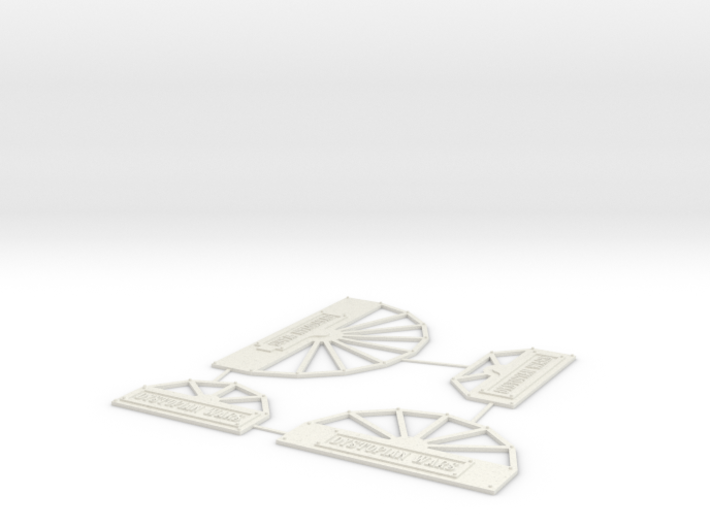 Dystopian Wars Turn Templates 3d printed