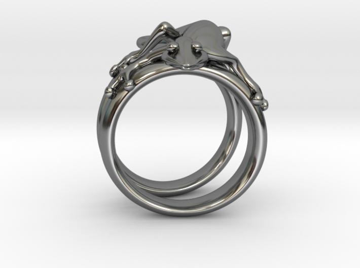 Gekko Ring 3d printed