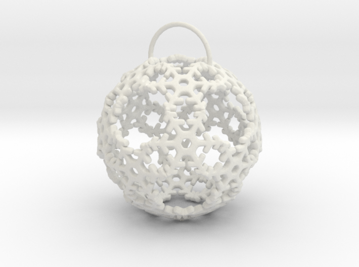 Snow Ball Ornament 3d printed
