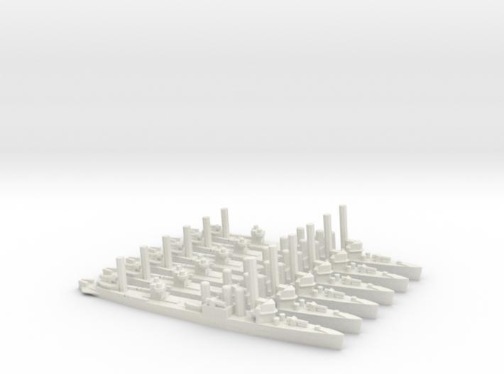 US Clemson-class Minelayer (x6) 3d printed