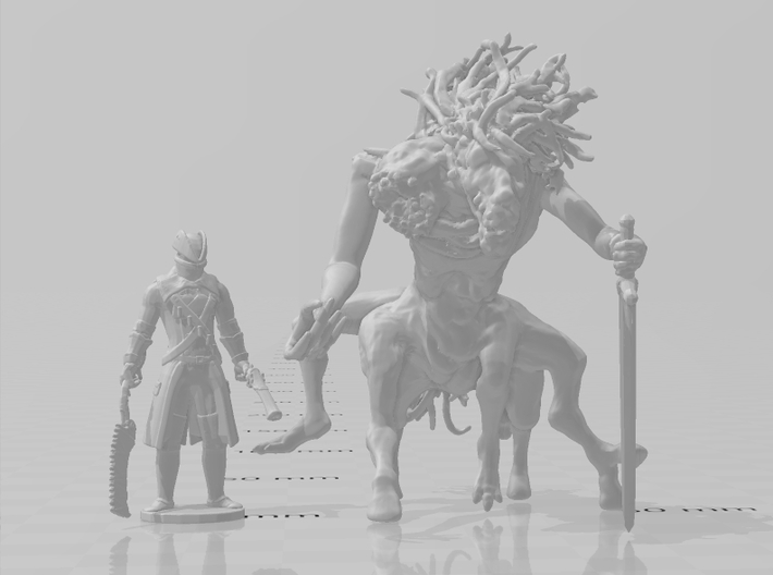 Bloodborne Hunter 1/60 miniature for games and rpg 3d printed