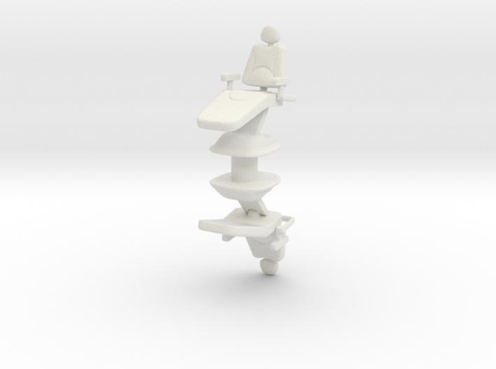 Dentist Chair (x2) 1/56 3d printed