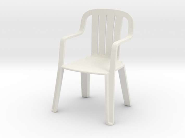 Plastic Chair 1/24 3d printed