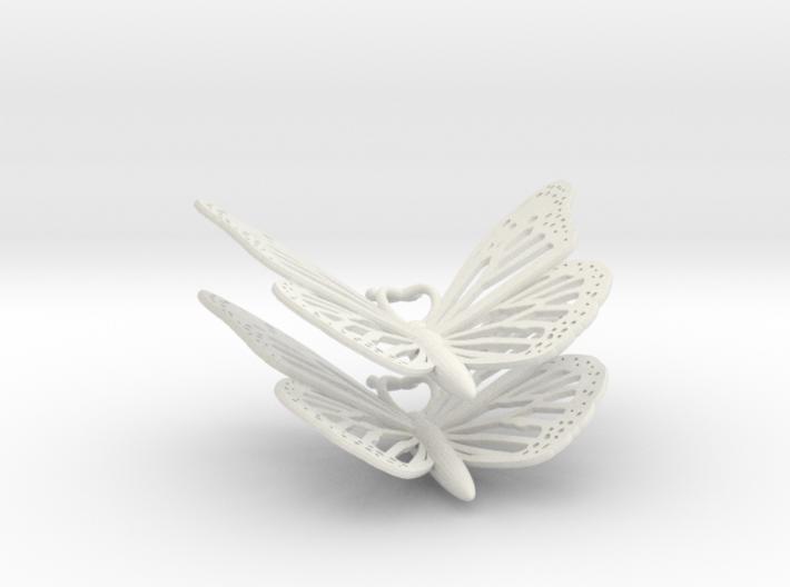 Monarch Earrings 3d printed
