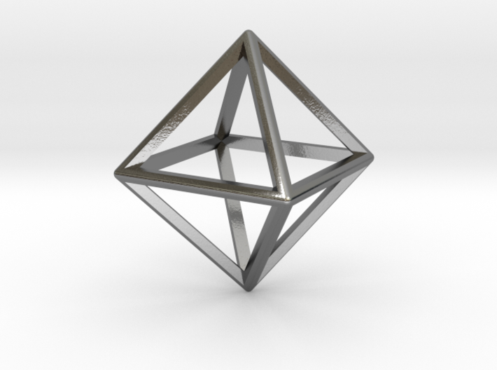 Wireframe Polyhedral Charm D8/Octahedron 3d printed