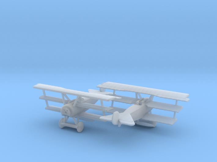 Fokker Dr1 1/200 scale 3d printed