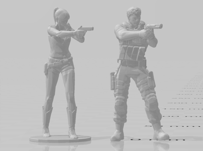Resident Evil Claire 1/60 miniature games and rpg 3d printed