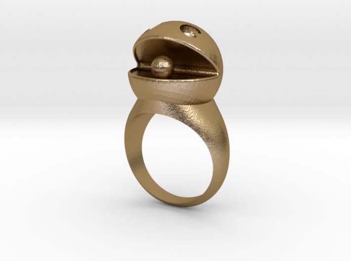 PacMan Ring 3d printed