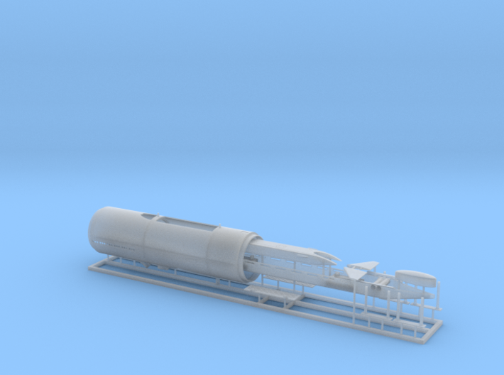 USS Parche SSN-683 Special Ops version 1/350 scale 3d printed
