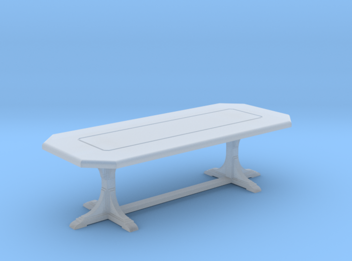 Cafe table. rectangular. 1:48 3d printed