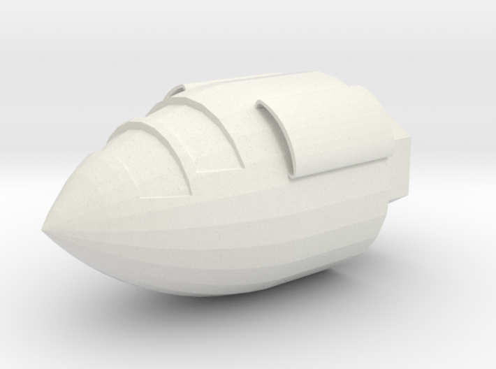 1/72 Mad Kitty Nose Section (part #1 for kit) 3d printed