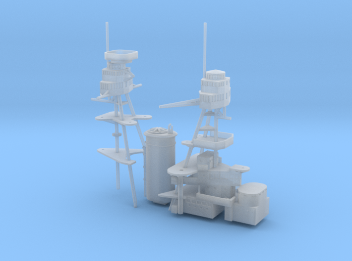 1/700 USS Nevada (1941) Superstructure 3d printed