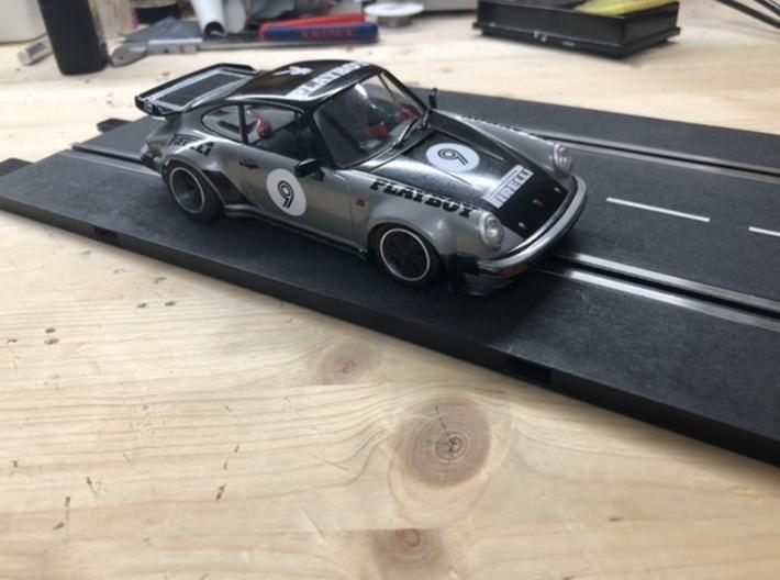 Porsche 911 Turbo Slotcar BRM Camber System 3d printed
