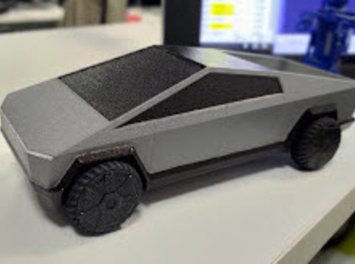 Cybertruck V1 3d printed hand painted sample