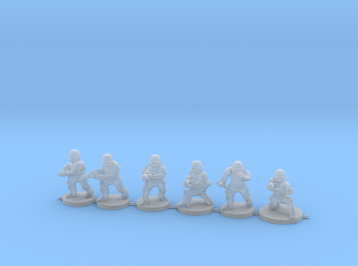 15mm Knights Squad 2 3d printed