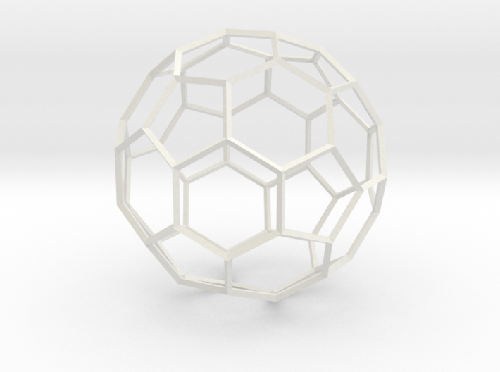 Soccer Ball - wireframe 3d printed