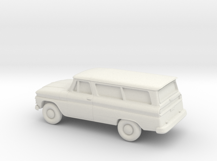 1/87 1966 Chevrolet Suburban 3d printed