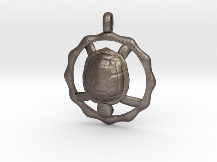 TURTLE TOTEM Jewelry Symbol Pendant 3d printed