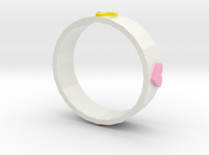 Size 12 Christian Love Ring 3d printed