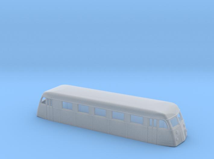 Swedish railcar Yo1s N-scale 3d printed