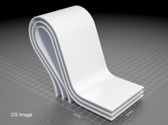curves A (large) 3d printed CG image of the sculpture... until I post a photo of the printed model.