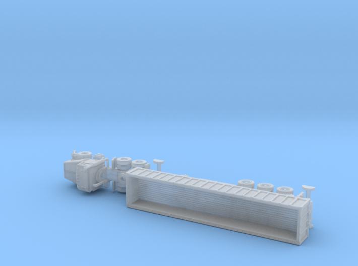 M915 Tractor w. M872 Breakbulktrailer 1/144 3d printed