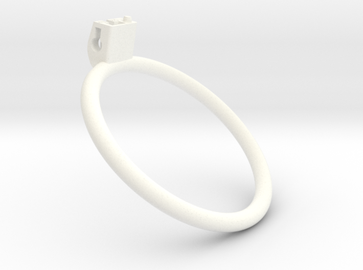 Cherry Keeper Ring - 85mm Flat +40° 3d printed