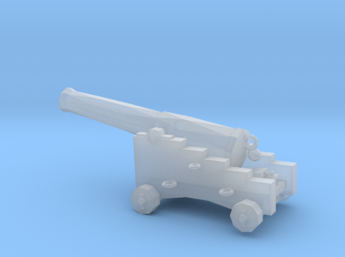 1/87 Scale 32 Pounder M1829 on Naval Carriage 3d printed