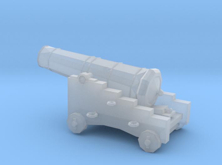 1/72 Scale 18 Pounder Naval Gun 3d printed