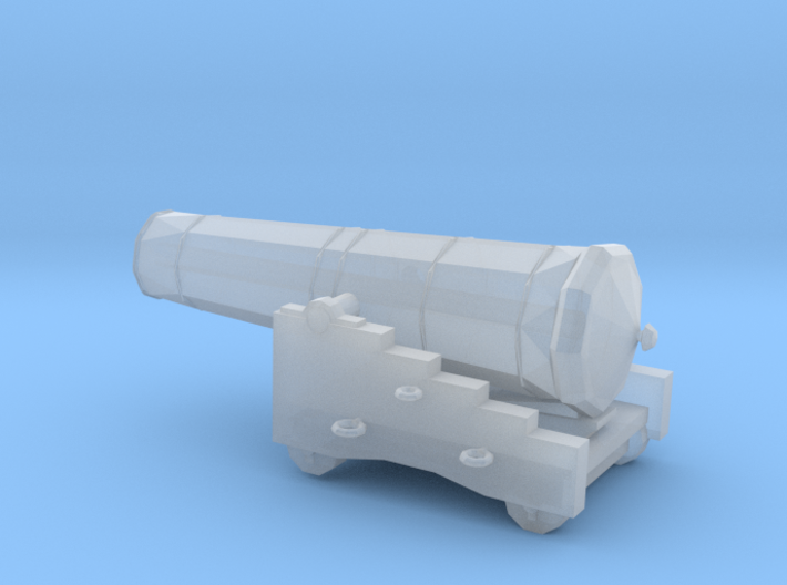 1/72 Scale 42 Pounder Naval Gun 3d printed