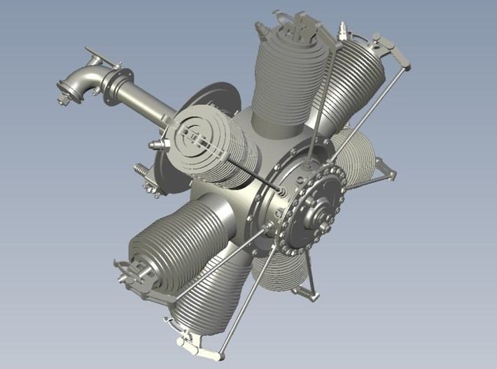1/15 scale Gnome 7 Omega rotary engines x 3 3d printed