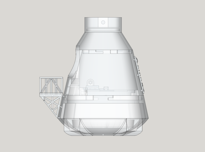 Life3D Weather Balloon Capsule - Base Section 3d printed Full Design