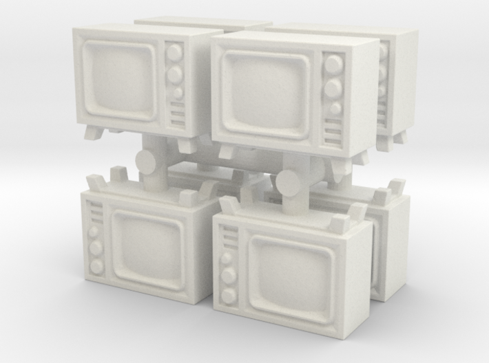 Old Television (x8) 1/120 3d printed