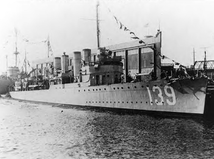 1/240 USS Ward Smoke Stacks SET 3d printed