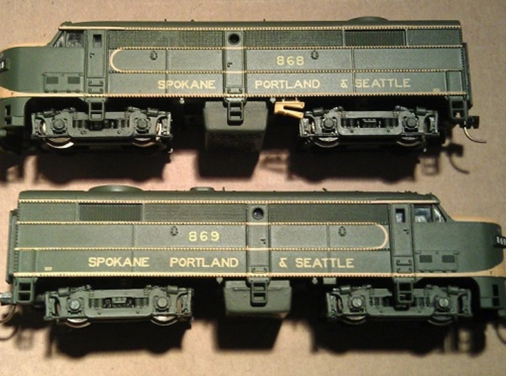 8 No. Re-Railers Type 1 Hanging N Scale 1:160 3d printed Type 1 Re-Railer On Life Like FA2