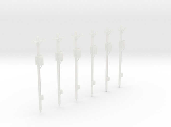 N-Scale Power Poles - Transfomer Pack 3d printed Shapeways Rendering