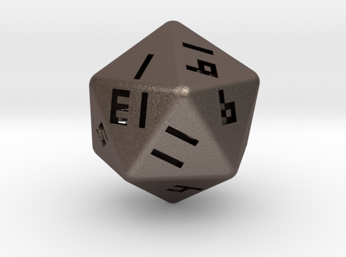 Hollow D20 v1 3d printed