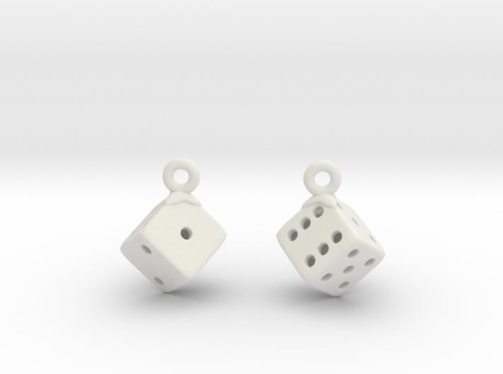 D6 Earrings 3d printed