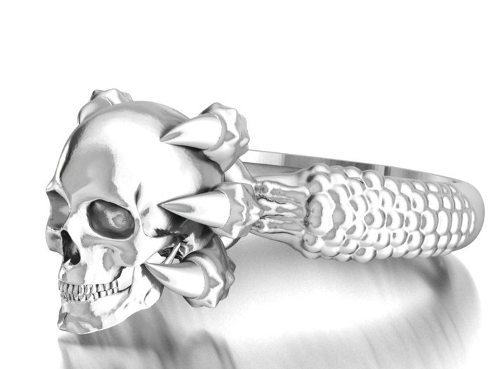 Monster Claw and Scull ring 3d printed Add a caption...