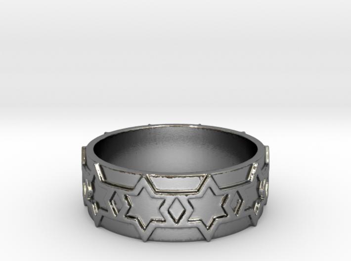53 STAR RING V8 Ring Size 8 3d printed